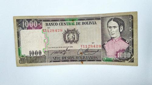 makuka: billete bolivia 1000 pesos bxx