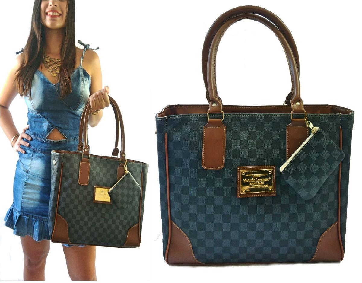 2f410ce33 mala bolsa listrada feminina saco sacola quadrada famosa. Carregando zoom.