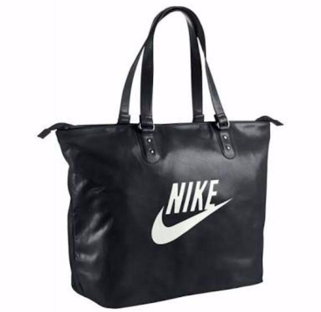 Bolsa Feminina De Couro Nike : Mala bolsa nike couro original feminina