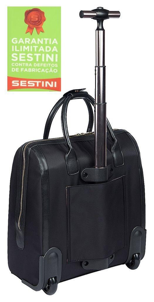 dcea9ef44 Mala Bolsa Sestini Notebook Preta Social Rodinhas - R$ 519,94 em ...