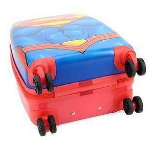 mala bordo ou escolar super homem abs 4 rodas 360º - 10182