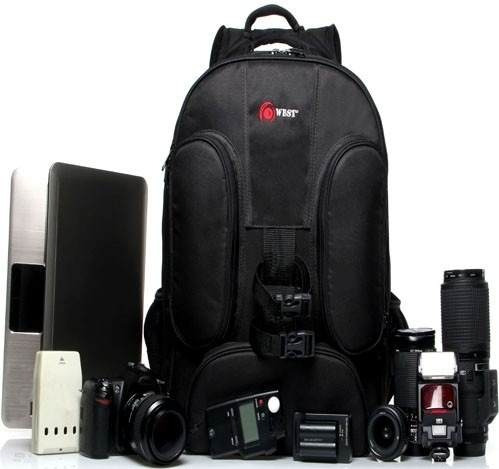 mala c/ rodinhas fotográfica nikon sony canon e acessorios