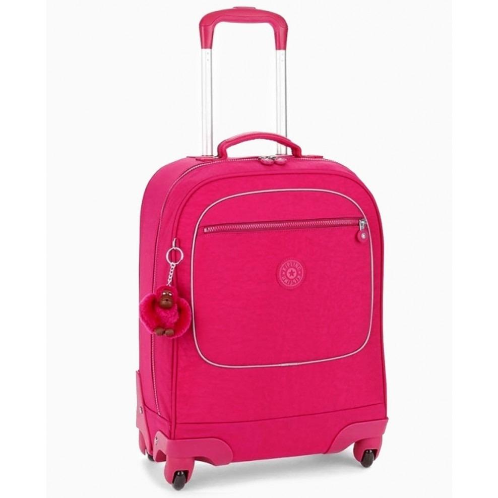 fe62ab02c Mala Com Rodinhas Licia Rosa Cerise Pink Kipling - R$ 949,00 em ...