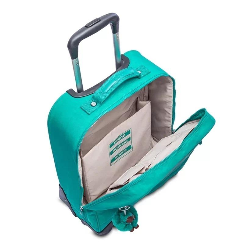 c75b1a1d8 Mala Com Rodinhas Licia Verde Aqua Green Kipling - R$ 899,00 em ...