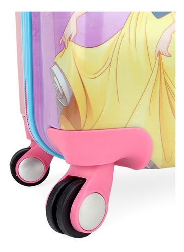 mala de bordo pequena princesas abs 4 rodas 360º - 10177