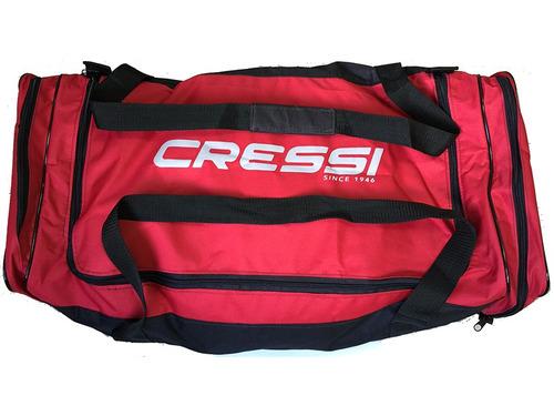 mala de mergulho travel bag drenante cressi vermelho