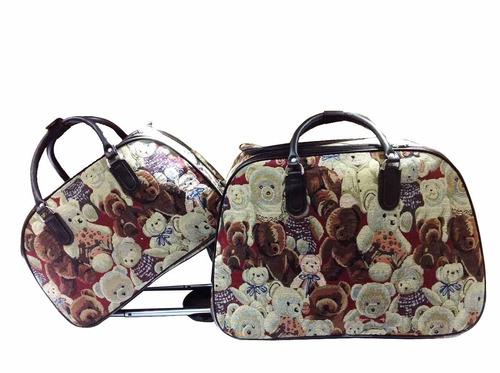 mala de viagem com rodinha e bolsa de mão média pronta entre