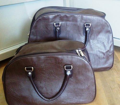 mala de viagem com rodinhas puxador e bolsa de mão kit com 2