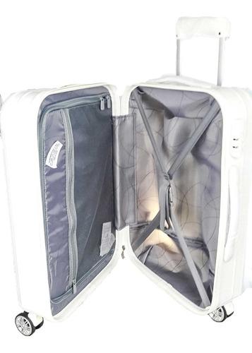 mala de viagem media branca resistente 360 graus fibra