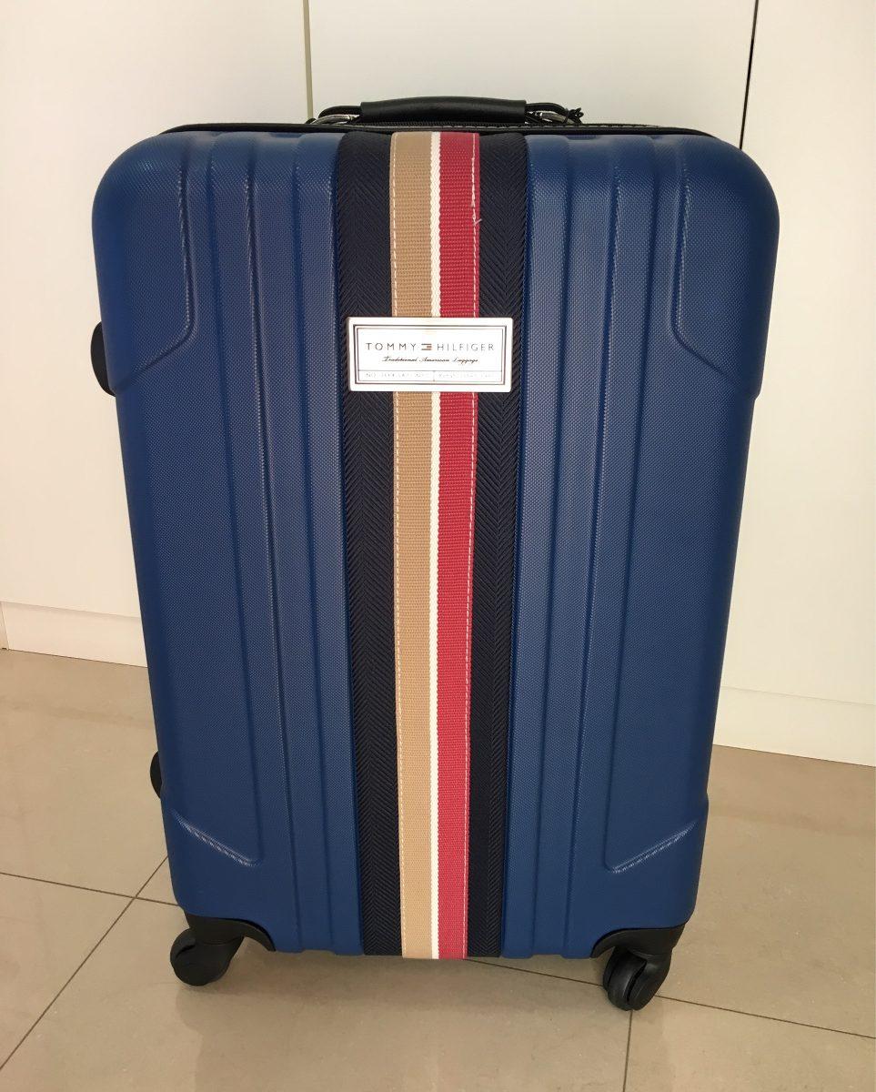 6654cab27 Mala De Viagem Tommy Hilfiger. Azul. Abs - R$ 799,00 em Mercado Livre