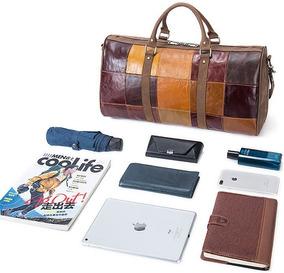 fa5d30d2b Kit Viagem Masculino - Bolsas de Couro Laranja escuro no Mercado ...