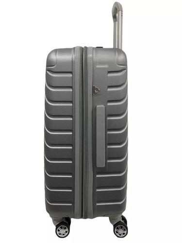 mala/ mochila escolar barbie prata abs 4 rodas 360º - 10172