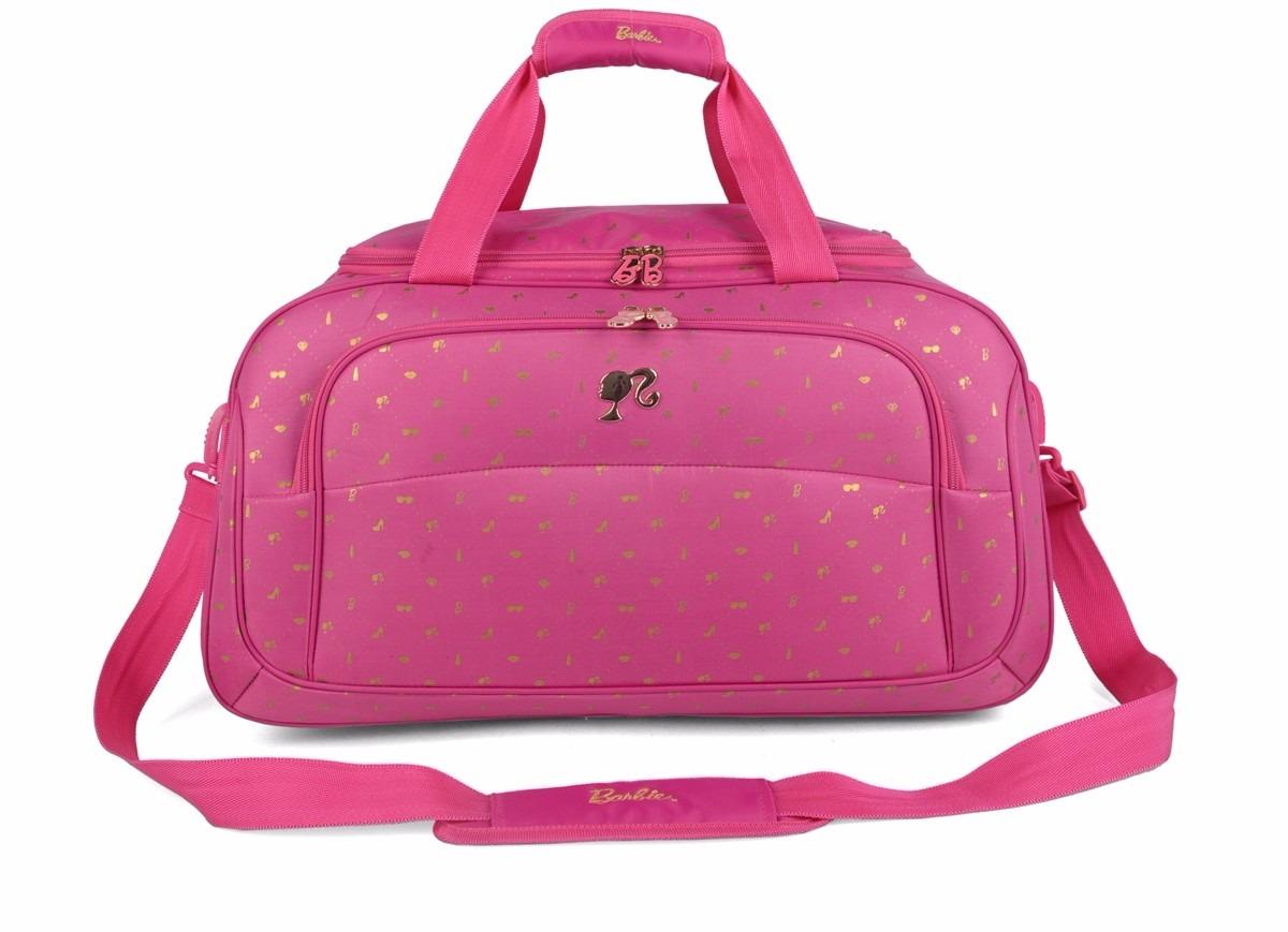 Bolsa De Viagem Feminina Rosa : Mala sacola de viagem c rodas e al?a barbie rosa