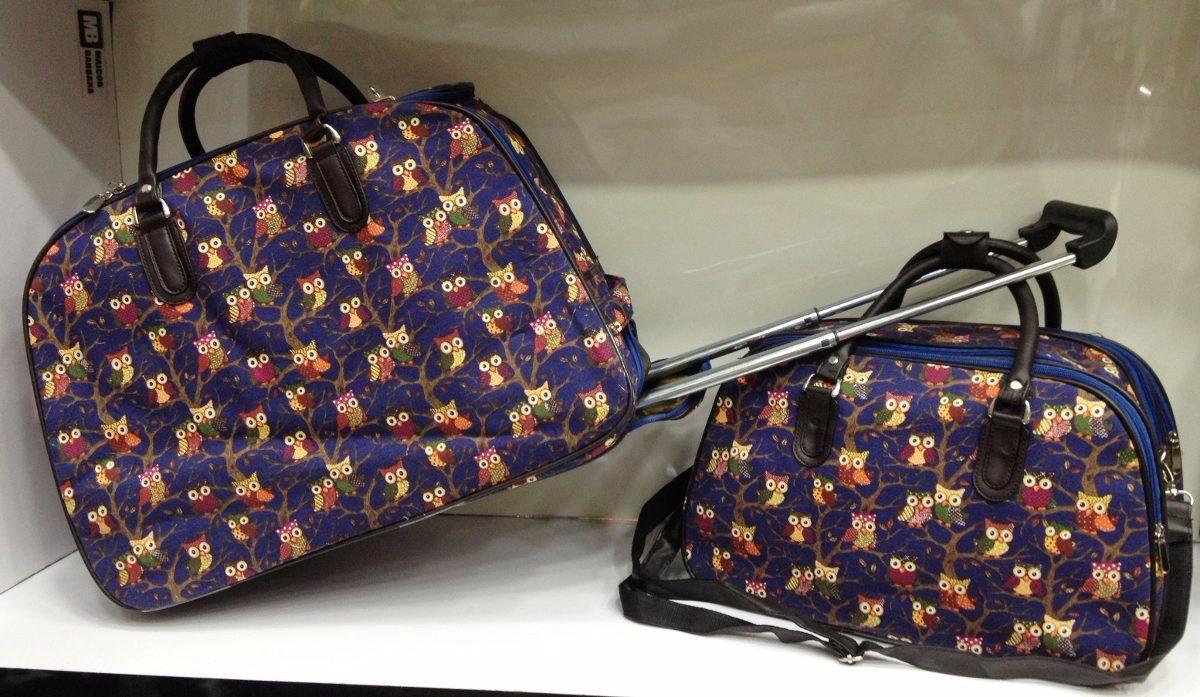 Bolsa De Mao Com Rodinhas : Mala coruja de viagem com rodinhas e bolsa m?o m?dia