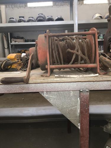 malacate apalanca ferro con gancho con roldana y linga