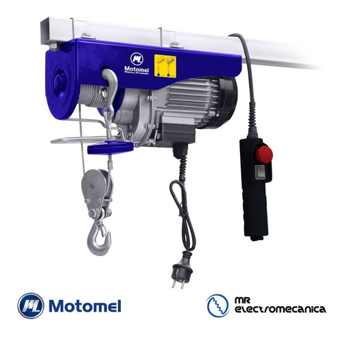 malacate aparejo eléctrico motomel 500 kg 220v monofásico - 12 metros - ideal taller - mae200 f