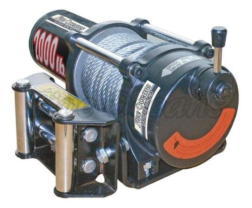 malacate eléctrico 12v - five oceans - 2000lb (907kg) 12vdc