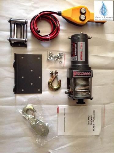 malacate eléctrico cap.3000 lb (1361 kg)  bull winch 12 volt