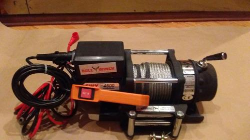 malacate eléctrico cap.4500 lb (2041kgrs) bull winch 12 volt