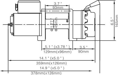 malacate vehicular - bullwinch - 4500 lbs - 2041kg