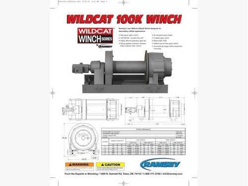 malacate /  winch wildcat marca ramsey nuevo