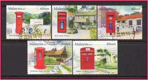 malásia - caixas de correio - 2011 - s/completa