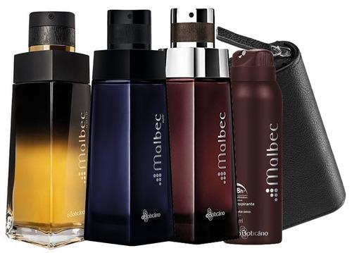 malbec gold boticário + malbec noir perfume - 100 ml