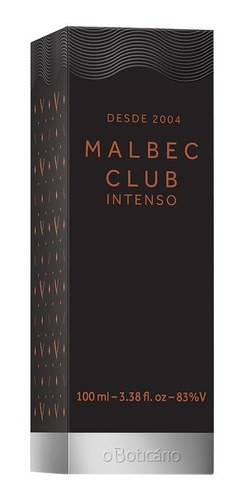 malbec intenso club desodorante colônia 100ml