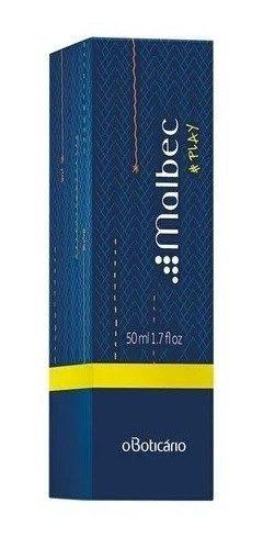malbec play perfume desodorante colônia 50ml masculino