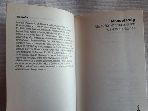 maldicion eterna a quien lea estas paginas manuel puig