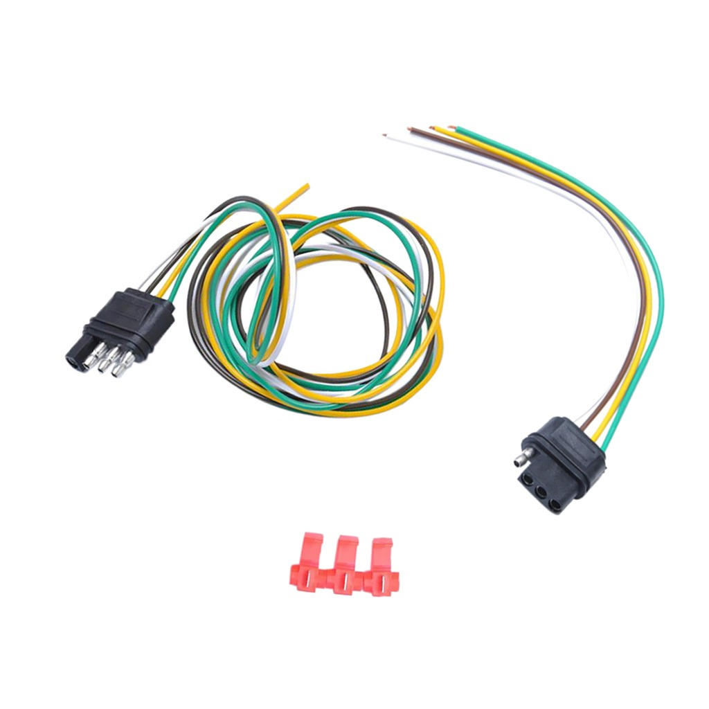 Male Female Trailer Plug Socket Harness Set Wiring Cable Pla