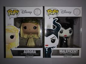 Maleficent 77 Y Aurora 78 Disney Retirada Vaulted Funko Pop