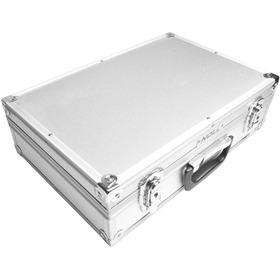 Maleta Aluminio Case Porte Média Reforçada 42x28x12cm Alça