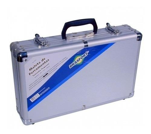 maleta  aluminio p/ferramentas pequena 395x240x90mm brasfort