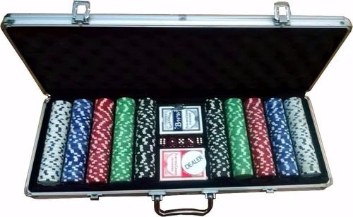 maleta aluminio  poker 500 fichas 11,5 numeradas maso 5dados