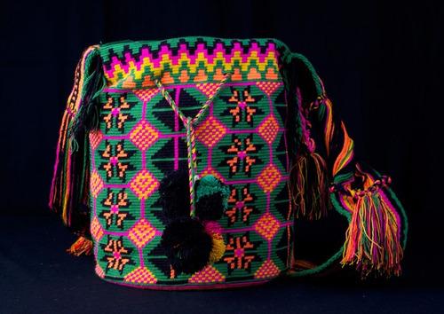 maleta artesanias wayuu mochila bolsos unisex multicolor