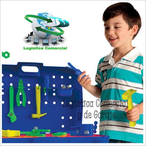 maleta banco juego de trabajo de herramientas niños + acceso