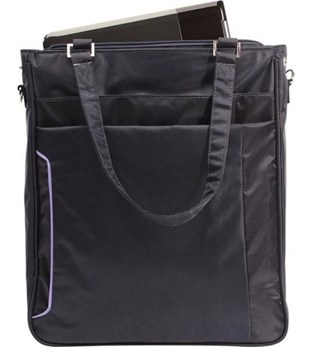 maleta bolsa p/ notebook 15.6pol preto-roxo 605715 maxprint