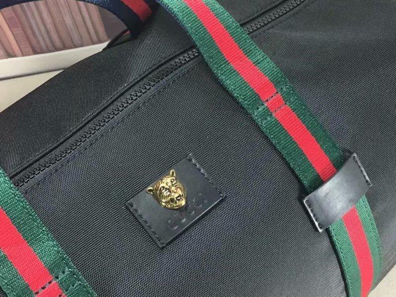 449b4d97c Increible Maleta Bolsa De Viaje Gucci Collage Negra 2 Lineas ...