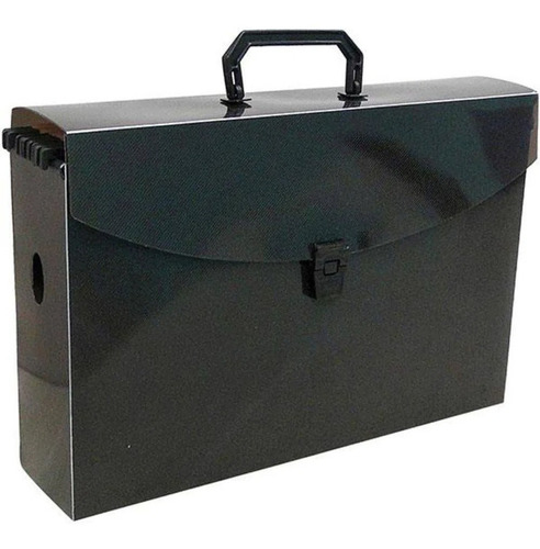 maleta caixa arquivo fumê kit c/10 pastas suspensa kraft