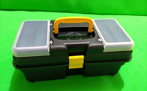 maleta-caixa-estojo pra pesca 1 bandeija guarda anzol isca