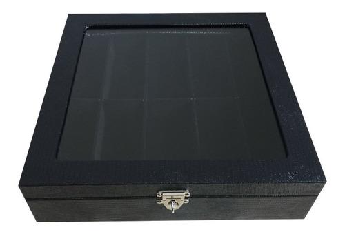 maleta caixa porta estojo para 10 óculos couro frete gratis