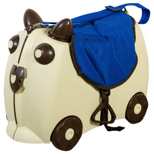 maleta carrito voii kids con sillin ba81-beige con azul