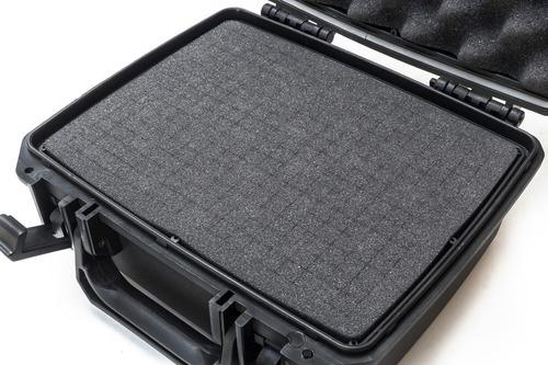 maleta case plástico forfly cases m2 espuma micro serrilhada