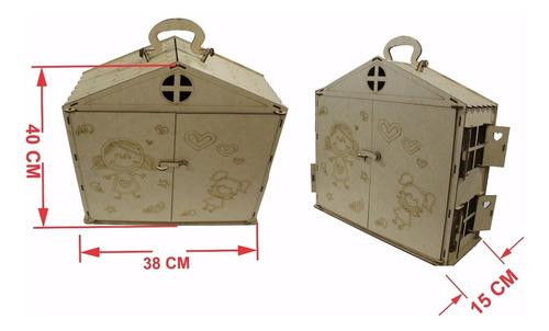 maleta casinha boneca polly +17 mini móveis poli poly top10