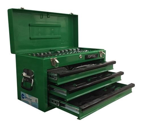 maleta com ferramentas profissionais - 3 gavetas 82 peças