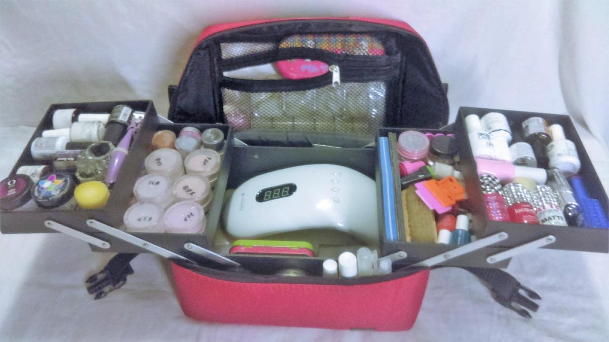 6496e8062 Maleta Comestiquera O Para Uñas Roja - $ 650.00 en Mercado Libre