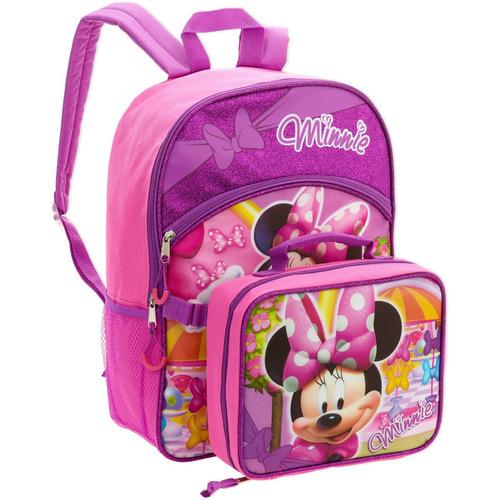 maleta con bolsa de almuerzo desmontable minnie mouse