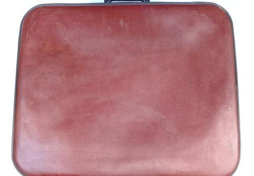 maleta cuero años ¨60 - 70 antigua