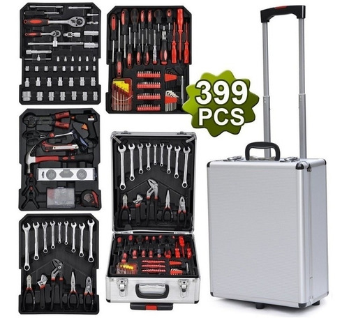 maleta de ferramentas completa com 399 peças a maior do ml t